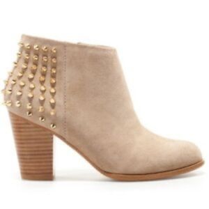 Brand New Zara Studded Beige Booties Size 37